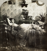 0097124 © Granger - Historical Picture ArchiveSLEEPING WOMAN, c1900.   From the stereograph series 'Sleeping Beauty,' c1900.