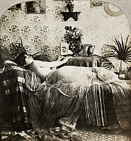0097125 © Granger - Historical Picture ArchiveSLEEPING WOMAN, c1900.   From the stereograph series 'Sleeping Beauty,' c1900.