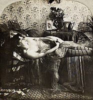 0097126 © Granger - Historical Picture ArchiveSLEEPING WOMAN, c1900.   From the stereograph series 'Sleeping Beauty,' c1900.