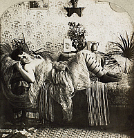 0097127 © Granger - Historical Picture ArchiveSLEEPING WOMAN, c1900.   From the stereograph series 'Sleeping Beauty,' c1900.