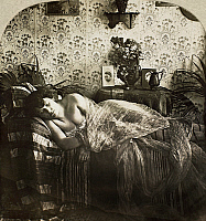 0097128 © Granger - Historical Picture ArchiveSLEEPING WOMAN, c1900.   From the stereograph series 'Sleeping Beauty,' c1900.