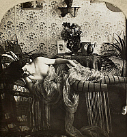 0097129 © Granger - Historical Picture ArchiveSLEEPING WOMAN, c1900.   From the stereograph series 'Sleeping Beauty,' c1900.