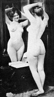 0097332 © Granger - Historical Picture ArchiveNUDE AND MIRROR, 1902.   The Toilette. Nude study, 1902, by the St. Louis photographer Fritz W. Guerin.