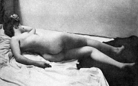 0097343 © Granger - Historical Picture ArchiveRECLINING NUDE, 1902.   'A Noonday Nap.' Nude study, 1902, by the St. Louis photographer Fritz W. Guerin.