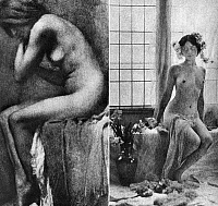 0097677 © Granger - Historical Picture ArchiveSEATED NUDE, c1900.   'Nude Against Light.' Photographic study, c1900, by Émile Constant Puyo (1857-1933).