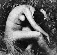 0097681 © Granger - Historical Picture ArchiveSEATED NUDE, 1898.   'La Cigale.' Nude study, 1898, by Frank Eugene (1865-1936).