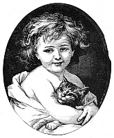 0001165 © Granger - Historical Picture ArchiveCHILD & PET, 19th CENTURY.   Wood engraving, American, 19th century.