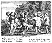 0015505 © Granger - Historical Picture ArchiveCHILDREN: GAMES & PASTIMES.  'The Dance': line engraving, French, 1657.