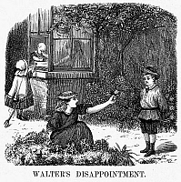 0093437 © Granger - Historical Picture ArchiveCHILDREN, 1873.   Children in a garden. Wood engraving, American, 1873.