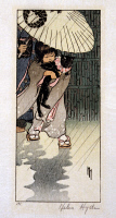 0622320 © Granger - Historical Picture ArchiveHYDE: HONORABLE MR. CAT.   'Honorable Mr. Cat.' A Japanese girl carries a cat in the rain as an adult holds up an umbrella. Woodcut, 1903.