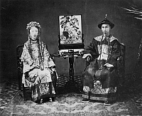 0065871 © Granger - Historical Picture ArchiveCANTONESE MANDARIN & WIFE.   Photographed by M. Miller, 1861-64.