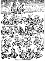 0015989 © Granger - Historical Picture ArchiveFAMILY TREE, 1493.   The descendants of Japeth. Woodcut, German, 1493.