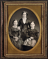 0265901 © Granger - Historical Picture ArchiveWOMEN, c1855.   Portrait of three woman. Daguerreotype by James Presley Ball, c1855.