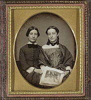 0265916 © Granger - Historical Picture ArchiveDAGUERREOTYPE: WOMEN.   Portrait of Emily Everett Abbot and Mary Susan Everett Abbot. Daguerreotype, c1852.