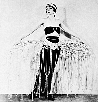 0126634 © Granger - Historical Picture ArchiveERTÉ: COSTUME, 1922.   'Cage' costume designed by Erté for the musical revue 'Greenwich Village Follies,' 1922.
