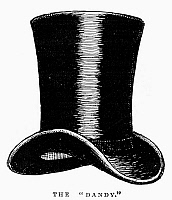 0093313 © Granger - Historical Picture ArchiveTOP HAT, c1875.   'The Dandy.' Line engraving, English, c1900.