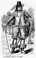 0094164 © Granger - Historical Picture ArchiveLONDON DANDY, 1646.   Wood engraving, English, c1875.