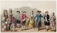 0354873 © Granger - Historical Picture ArchiveFRANCE: FASHION, c1730.   Men's fashions in France, c1730. Chromolithograph, c1875.