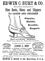 0012887 © Granger - Historical Picture ArchiveFASHION: SHOES, 1890.   Advertisement, American, 1890.