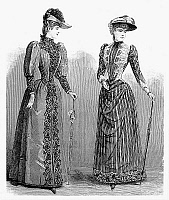 0000108 © Granger - Historical Picture ArchiveWOMEN'S FASHION, 1889.   Wood engraving, American, 1889.