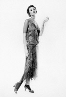 0016135 © Granger - Historical Picture ArchiveWOMEN'S FASHION, c1922.   Printed, re-embroidered voile evening dress by Callot Soeurs, c1922.