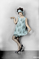 0120984 © Granger - Historical Picture ArchiveFASHION: FLAPPER, 1925.   American flapper. Photograph, 1925, digitally colored by Granger, NYC -- All rights reserved.