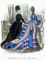 0125937 © Granger - Historical Picture ArchiveWOMEN'S FASHION, c1875.   Line engraving, French, c1875, after Jules David, for an American women's magazine.