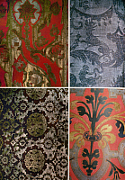0126592 © Granger - Historical Picture ArchiveFORTUNY: FABRIC PATTERNS.   Details of printed fabrics by the Venetian-based Spanish designer Mariano Fortuny (1871-1949).
