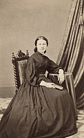 0323381 © Granger - Historical Picture ArchiveWOMAN, 19th CENTURY.   A seated woman, photographed by Webster & Popkins in Hartford, Connecticut, mid 19th century.