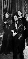 0433909 © Granger - Historical Picture ArchiveBERENSON AND MINELLI, 1973.   Marisa Berenson, Liza Minelli and Halston arriving at Versailles for a gala to raise money for the restoration of the palace. Photograph by Giovanni Coruzzi, 28 November 1973. Full credit: AGIP - Rue des Archives / Granger, NYC.