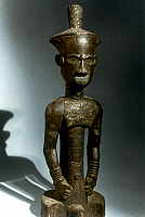 0018642 © Granger - Historical Picture ArchiveAFRICAN ART: WOODEN STATUE   Statue of a chief. Ndengese, Congo. Height: 57.5 cm.