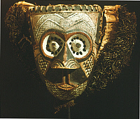 0018644 © Granger - Historical Picture ArchiveAFRICAN MASK.   Wooden painted mask; Bakuba, Congo. Height: 25.1 cm.