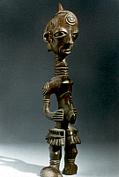 0018648 © Granger - Historical Picture ArchiveAFRICAN ART: WOODEN STATUE   Statue of a man. Bena Lulua, Congo. Height: 31.1 cm.