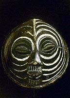 0018649 © Granger - Historical Picture ArchiveAFRICAN ART: WOODEN MASK.   Ovoid. Baluba, Congo. Height: 37 cm.