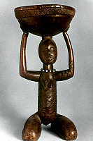 0018652 © Granger - Historical Picture ArchiveAFRICAN ART: WOODEN SEAT.   Chief's seat on Caryatid figure. Baluba, Congo.