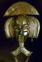 0018653 © Granger - Historical Picture ArchiveAFRICAN ART.   Funerary figure, wood and copper. From Bakota, Gabon. Height: 64 cm.