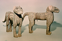 0019021 © Granger - Historical Picture ArchiveNIGERIA: IVORY LEOPARDS.   Ivory leopards from Benin, Nigeria.