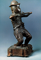 0020847 © Granger - Historical Picture ArchiveAFRICAN ART: NIGERIA.   Bronze statuette of a Portuguese soldier from Benin, Nigeria, c1600.