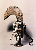 0027303 © Granger - Historical Picture ArchiveNIGERIAN WOOD CARVING.   Eshu staff from Yoruba, Nigeria.