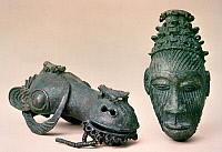 0040411 © Granger - Historical Picture ArchiveNIGERIAN BRONZE ART.   Bronze castings excavated at Igbo-Ukwo, Nigeria.