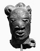 0114177 © Granger - Historical Picture ArchiveNIGERIA: NOK SCULPTURE.   Terracotta head, northern Nigeria, 500 B.C.- 200 A.D.