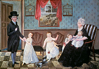 0020089 © Granger - Historical Picture ArchiveTHE SARGENT FAMILY, 1800.   Canvas. Unknown American artist.