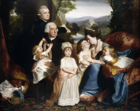 0024319 © Granger - Historical Picture ArchiveCOPLEY: THE COPLEY FAMILY.   The Copley Family. Oil on canvas, 1776-77, by John Singleton Copley.