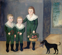 0027938 © Granger - Historical Picture ArchiveJOHNSTON: CHILDREN, 1807.   Joshua Johnston: The Westwood Children. Oil on canvas, c1807.