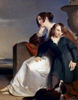 0029245 © Granger - Historical Picture ArchiveSULLY: MOTHER & SON, 1840.   Thomas Sully: Mother and Son. Oil on canvas, 1840.
