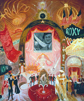 0033007 © Granger - Historical Picture ArchiveSTETTHEIMER: BROADWAY.   Cathedrals of Broadway. oil on canvas, 1929, by Florine Stettheimer. EDITORIAL USE ONLY.