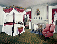 0035943 © Granger - Historical Picture ArchiveAMERICAN BEDROOM, 1805.   Bedroom from the James Duncan Jr. house in Haverhill, Massachusetts, c1805.