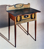 0039427 © Granger - Historical Picture ArchiveTABLE: FEDERAL STYLE.   American sideboard table, Federal style. Painted wood, 1820-35.
