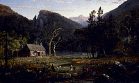 0057426 © Granger - Historical Picture ArchiveCROPSEY: EAGLE CLIFF, 1858.   Jasper Francis Cropsey: Eagle Cliff, Franconia Notch, New Hampshire. Oil on canvas, 1858.