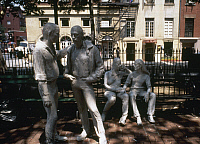 0115461 © Granger - Historical Picture ArchiveSEGAL: GAY LIBERATION, 1980.   'Gay Liberation.' Sculpture group in Sheridan Square, New York City, by George Segal, 1980.
